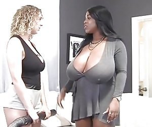 Interracial lesbian fuck is the favorite sex game for Maserati XXX